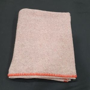 Wool blend throw 56 by 70 inches approximately